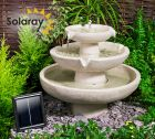 Barnwell Ivory Solar Cascade Three Tier Fountain Water Feature (H42cm) by Solaray�