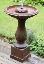 Beaumont Bronze Effect Bird Bath Water Feature - H68cm