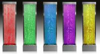 6ft / 184cm Bubble Water Wall with Colour Changing LED Lights - Indoor and Outdoor Use