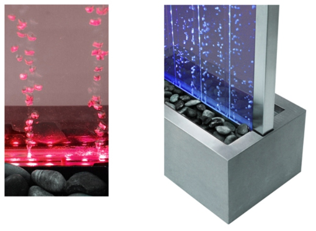 184cm Bubble Water Wall with Colour Changing LED Lights - Indoor and Outdoor Use