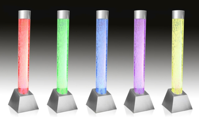 130cm Bubble Tube Water Feature with Colour Changing LED Lights - Indoor and Outdoor Use