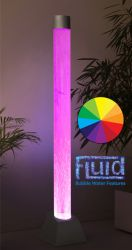 H183cm Bubble Tube Water Feature with Colour Changing LEDs | Indoor/Outdoor Use - by Fluid