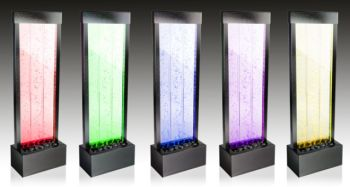 4ft / 122cm Bubble Water Wall with Colour Changing LED Lights - Indoor and Outdoor Use