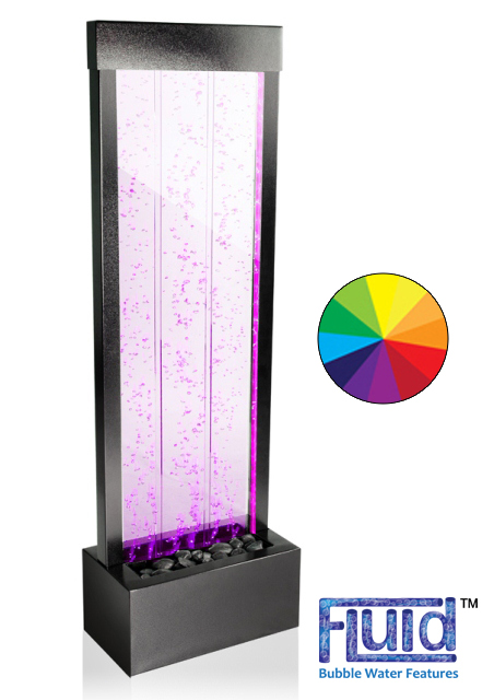 H122cm Bubble Water Wall with Colour Changing LEDs | Indoor/Outdoor Use - by Fluid
