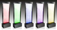 "4ft 9"" / 150cm Solar/Mains Powered Bubble Water Wall with Colour Changing LED Lights - Indoor and Outdoor Use by Fluid™"