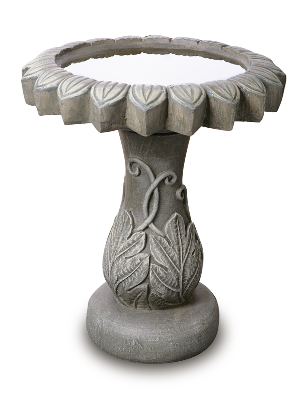 55cm Alpine Leaf Bird Bath