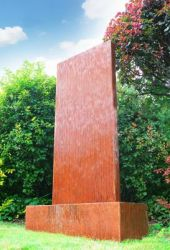 4ft / 1.2m Corten Steel Vertical Water Wall with colour changing LED lights by Ambienté™