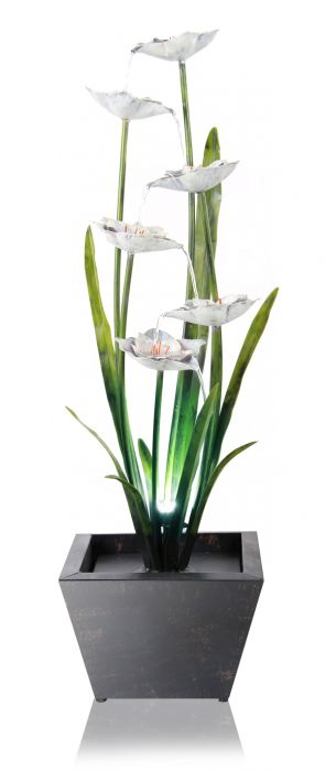 Narcissi Garden Water Feature with Lights H100cm