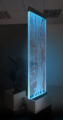 6ft / 183cm Orion Bubble Water Wall with Colour Changing LED Lights - Indoor Use
