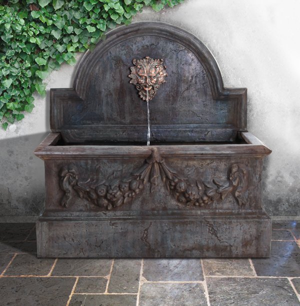 Madrid Trough Water Feature with Poseidon Spout - W102cm x H104cm