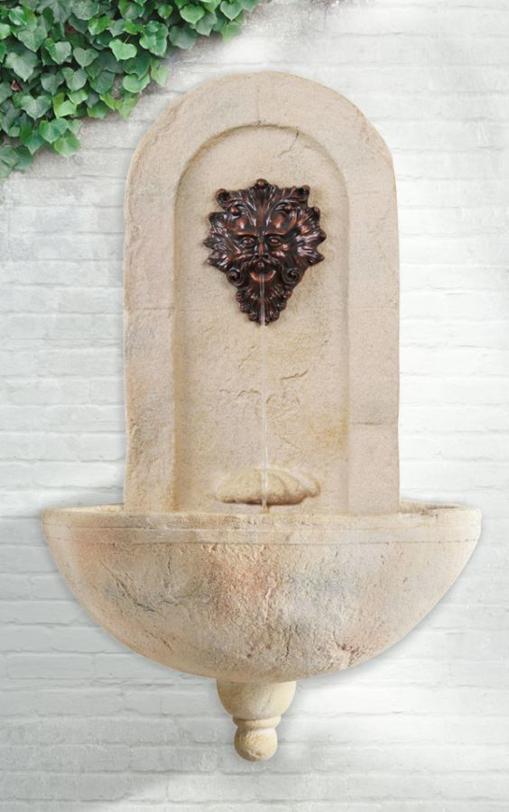 Bilbao Wall Fountain with Poseidon Spout by Ambienté™