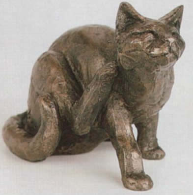 Whiskey Cat Sculpture