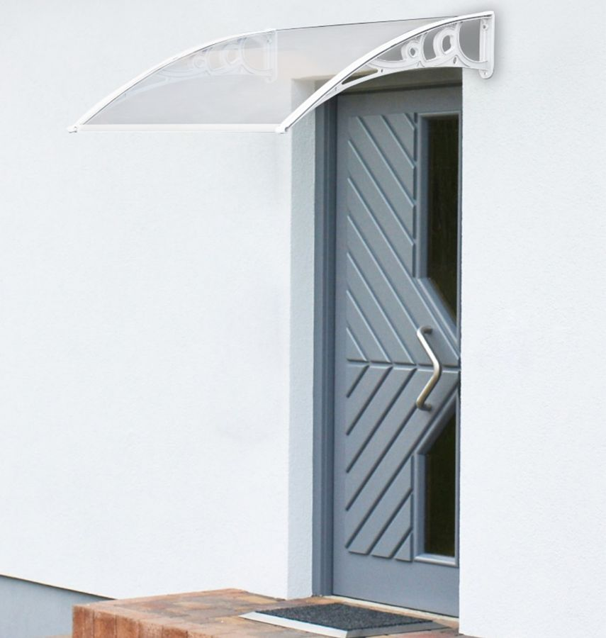 120 x 60cm White Door Canopy - Lacewing™