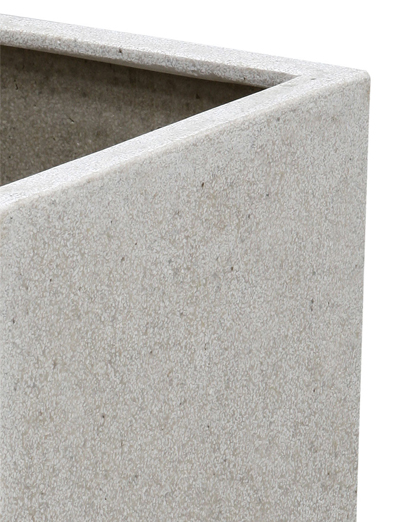 52cm Poly-Terrazzo White Cube Planter – Set of 2