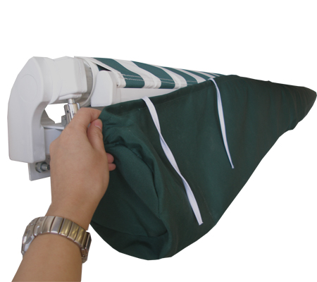 1.5m Plain Green Protective Awning Rain Cover / Storage Bag