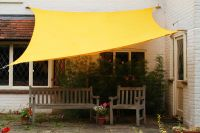 Kookaburra® 5mx4m Rectangle Yellow Waterproof Woven Shade Sail