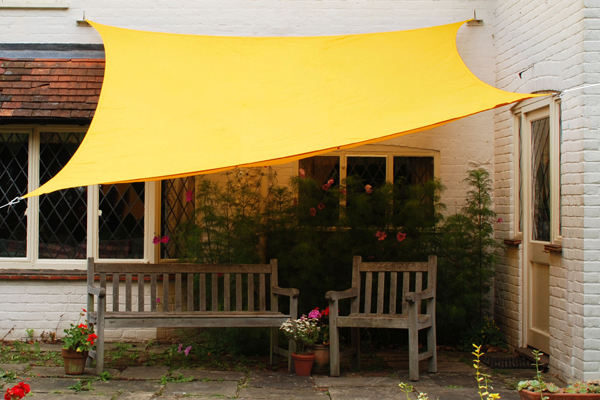 Kookaburra® 3mx2m Rectangle Yellow Waterproof Woven Shade Sail